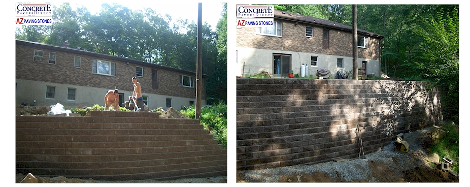 Concrete Pavers Direct - Retaining Wall