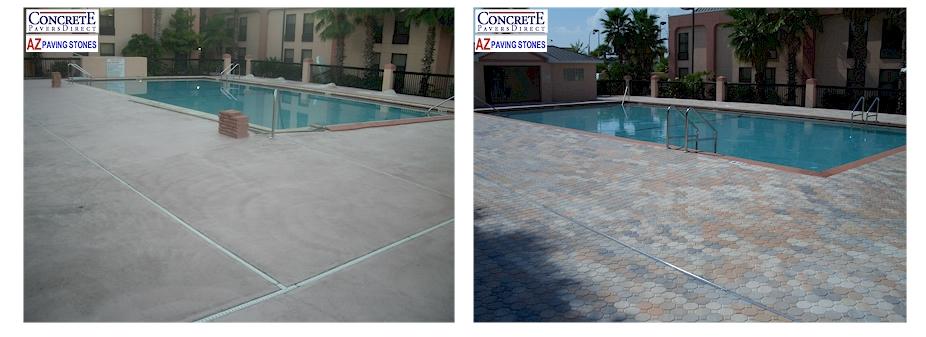 Concrete Pavers Direct - Pool Deck